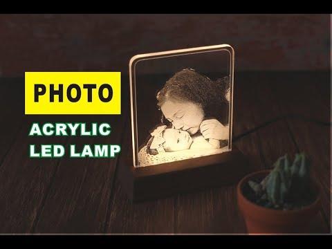 PHOTO ACRYLIC LED LAMP - LED 무드등 만들기 [아빠네공방]