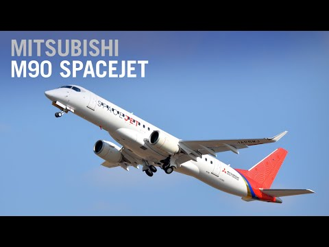 First Mitsubishi SpaceJet M90 in Final Configuration Takes Flight – AIN