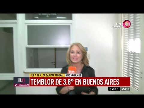 Insólito temblor de 3.8° sacudió Buenos Aires
