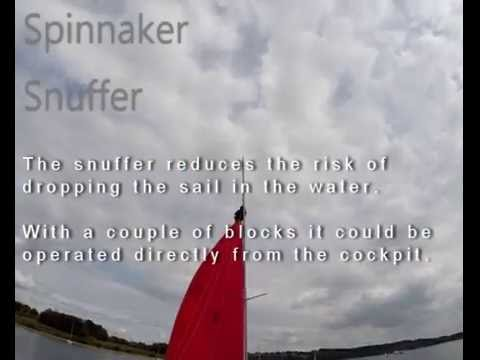 Spinnaker snuffer for a Wayfarer sailing dinghy