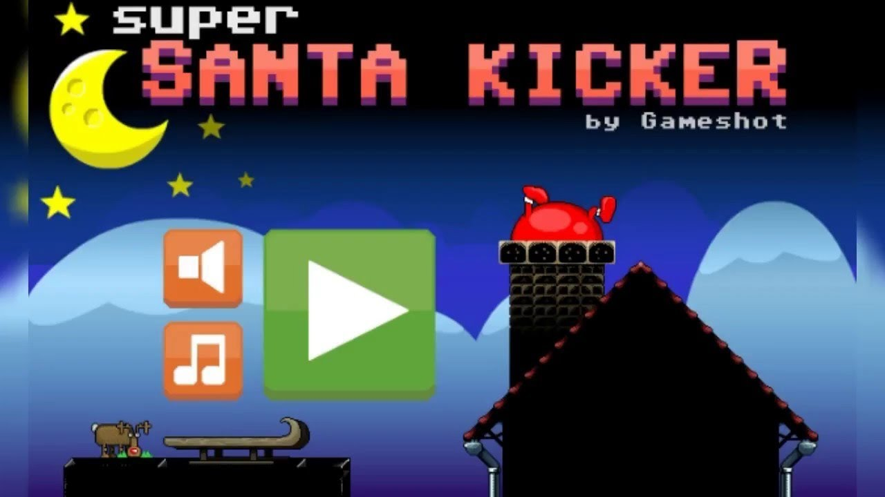 Super Santa Kicker cool math games Walkthrough Levels 1