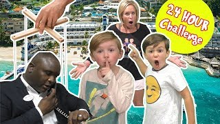 24 Hour Overnight Hotel Challenge - We Make the Manager do CRAZY Things for Us at Beaches!
