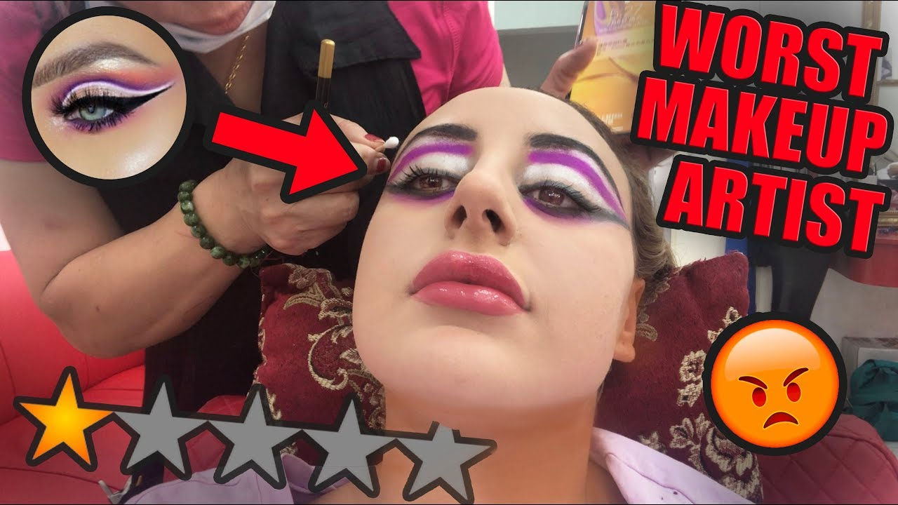 I WENT TO THE WORST REVIEWED MAKEUP ARTIST IN DUBAI!! 😡