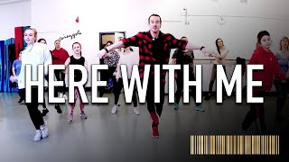 HERE WITH ME - Marshmello & Chvrches | Beginner Dance CHOREOGRAPHY