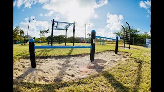MoveStrong FitGround Outdoor Fitness Park Opening in Caribbean