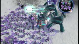 Halo Wars Brutes vs 3 Scarabs