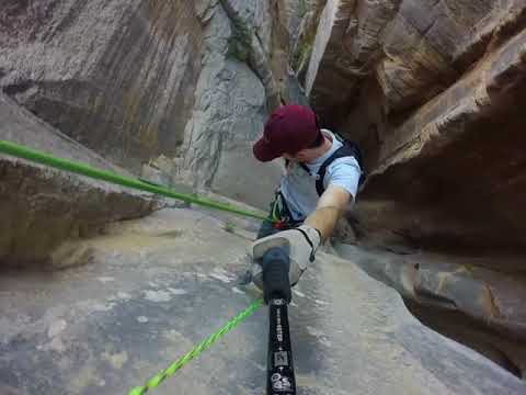 300 Ft Rappel Into Englestead Canyon In Zion National Park
