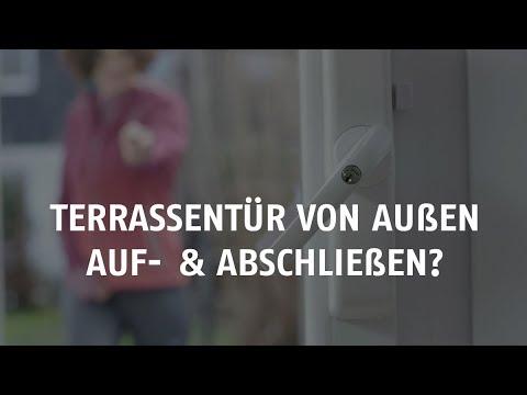 Terrassentur Von Aussen Abschliessen Mit Dem Abus Hometec Pro Youtube
