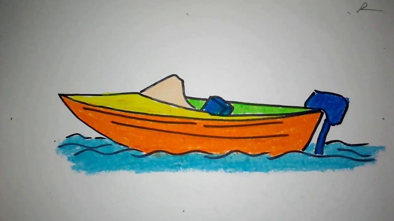 Cara Menggambar Kapal Boat Untuk Anak Sd Youtube
