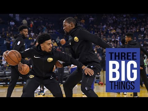 3 Big Things Kevin Durant, Quinn Cook and young bigs hold down fort