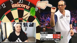 REAKTION auf Janni beim World Cup of Darts | ScorpionDarts