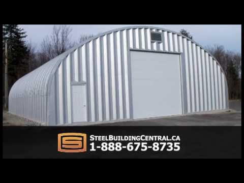 Canadian steel buildings diy quonset buildings made for for Garage building kits canada
