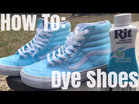 HOW TO: Dye Shoes!!