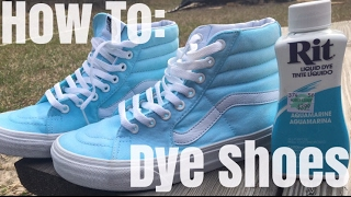 how to dye shoes