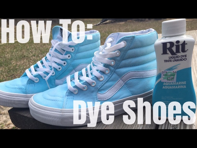 HOW TO: Dye Shoes!! - YouTube