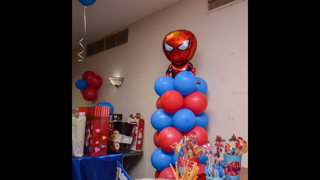 Spider Man Decor Party Youtube