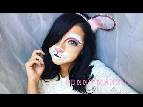 Bunny Halloween Makeup - YouTube