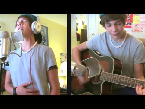 Never Let You Go Justin Bieber - Austin Mahone live acoustic cover