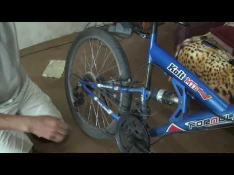 Как натянуть тормоза  на спорт. велосипеде.