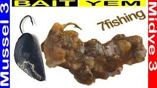 Efsane Balık Yemi Midye içi iğneye nasıl takılır? Midye eti ile Çupra Balık Avı SurfCasting 7fishing