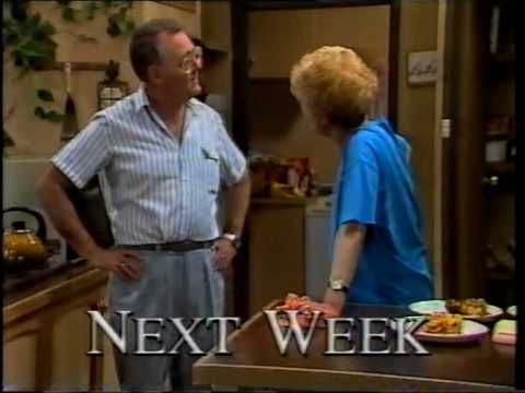 Aussie channel 10 Neighbours promo 1990 Helen & Dorothy discover a mysterious painting
