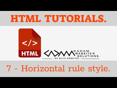 HTML TUTORIAL -7. Hr Style   Horizontal Rule Styles   Dotted Hr   Dashed Hr   Double Hr   Solid Hr