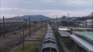 【通過動画】JR九州 豪華寝台特急「ななつ星in九州」山之口駅通過