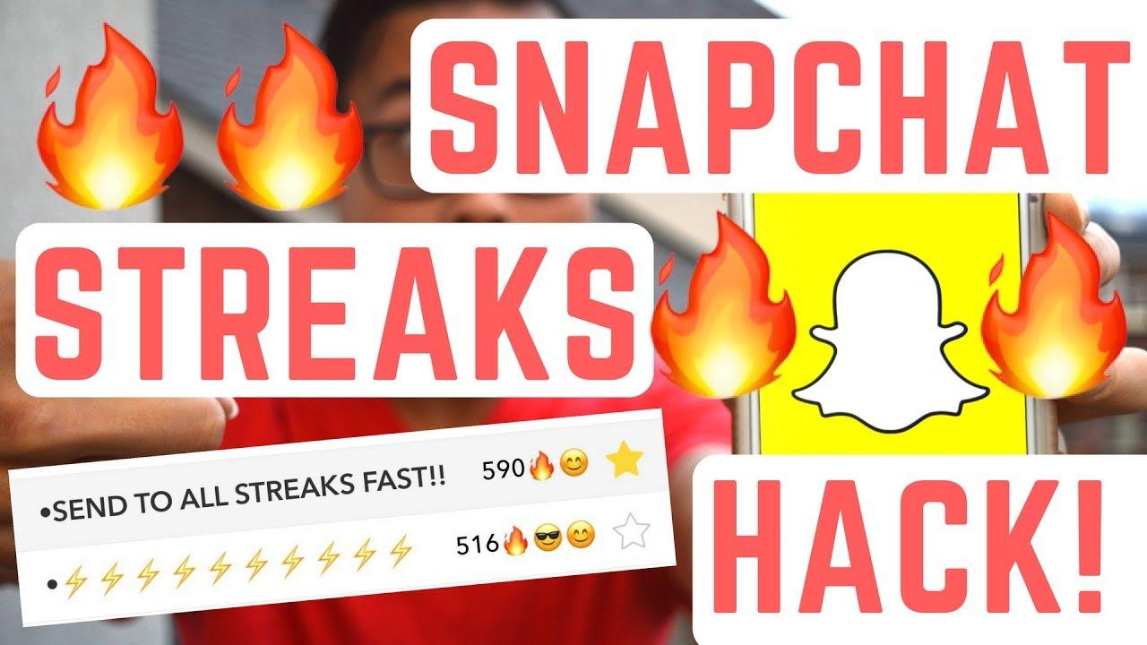 Send snapchat streaks online