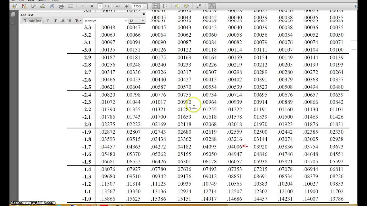 Finding p values using a z table youtube for P table value