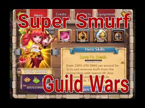 Castle Clash Super Smurf Guild Wars