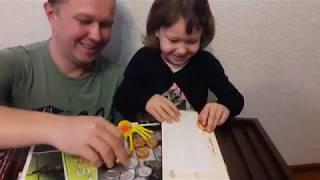 Шашки-конфеты. Катя играет с папой в шашки. Обзор. Шоколадные шашки. Chocolate draughts