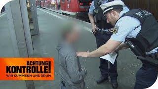 Betrunken & verwirrt am Stuttgart Hbf: Was ist los mit dem Mann? | Achtung Kontrolle | kabel eins
