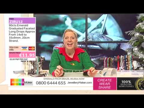 How to Make Beaded Jewellery Christmas Day Show!: JewelleryMaker LIVE 25/12/2014
