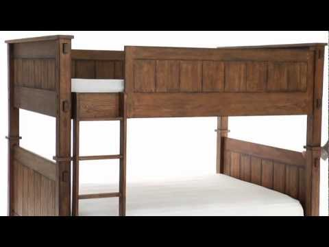 Add Rustic Style and Functionality to Teen's Room with this Wooden Bunk Bed | PBteen