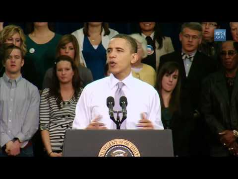 President Obama Speaks about Health Reform in Iowa City