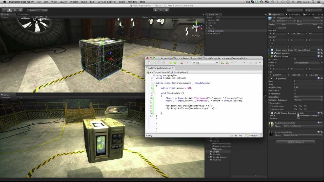 AddTorque - Unity Official Tutorials
