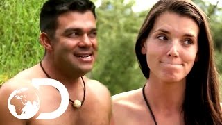 Repeat youtube video Spooning A Stranger, And Other Awkward Moments | Naked And Afraid
