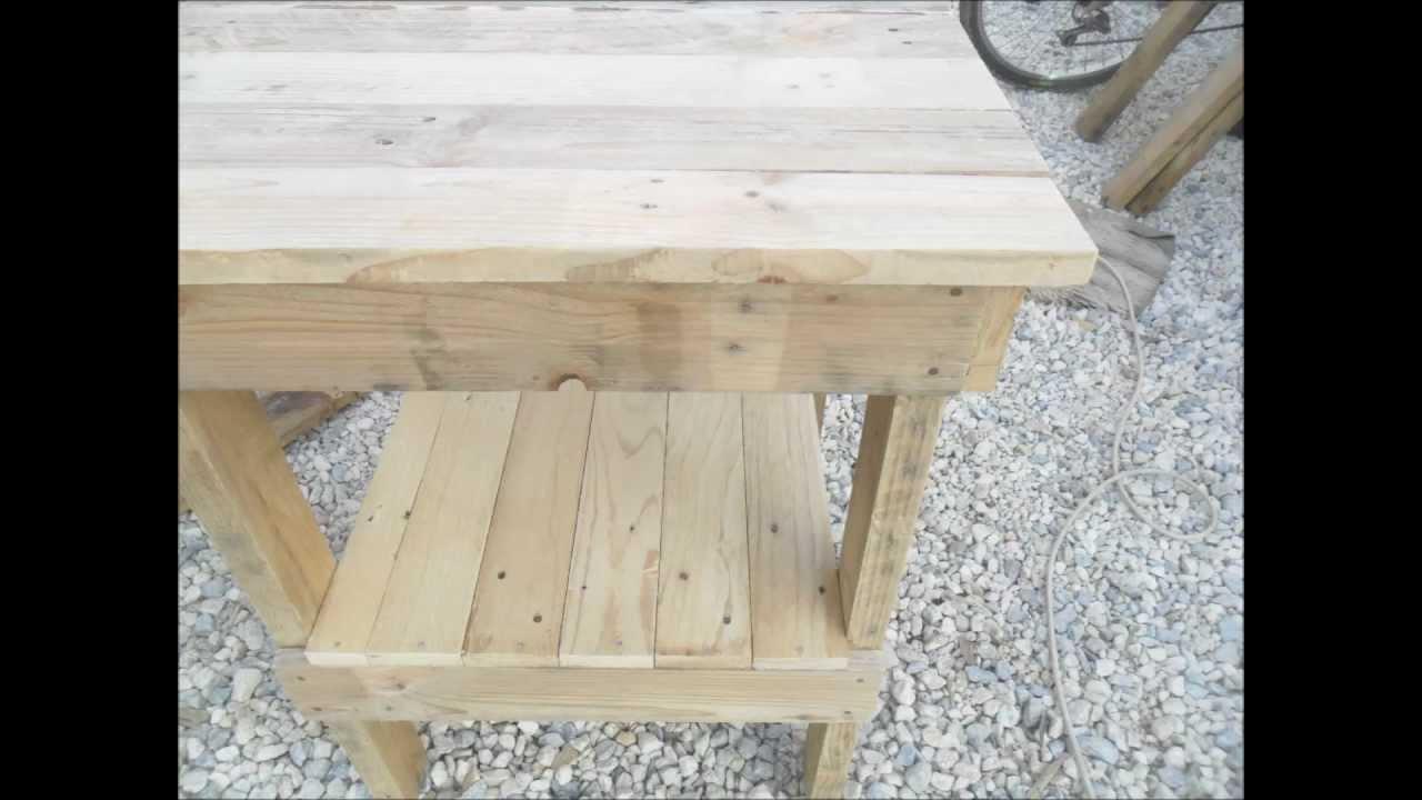 Como hacer una mesa con maderas de palets  YouTube