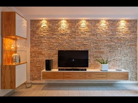 The Best Tv Unit Designs Ever Hall Designs Stone Cladding Youtube