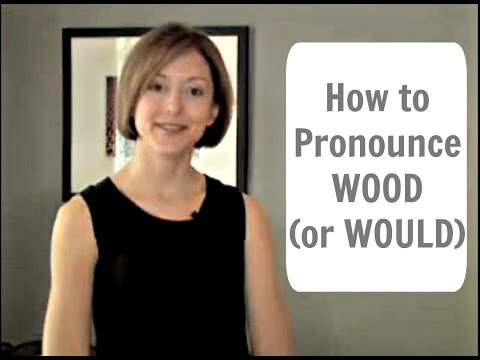 How to pronounce WOOD /ʊ/  (or WOULD) - American English Pronunciation Lesson