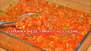 Lokanta üsulü Yedikçe yedirten lezzet tadına bakan bırakamıyor !! acılı ezme tarifi