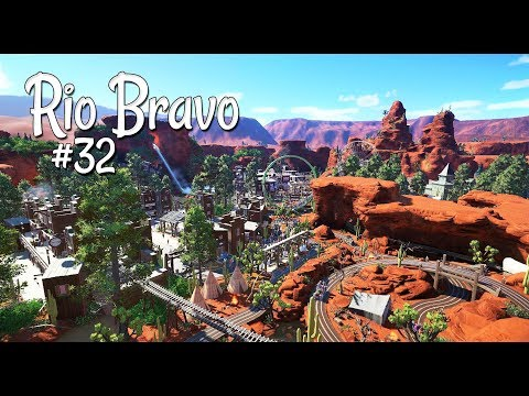 Planet Coaster (western): Rio Bravo - Ep.32 - Last speedbuild; Log Flume, Go Karts, scenery and more