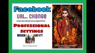 Facebook kings professional settings// how to fb url change