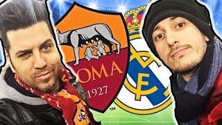 ROMA REAL MADRID 0 - 2 LA REAZIONE DEGLI YOUTUBER ALLO STADIO! (Champions League 2016)
