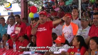 Plan de Presupuesto Participativo 2015 Pq. Chirica -Municipio caroní -Edo.Bolívar