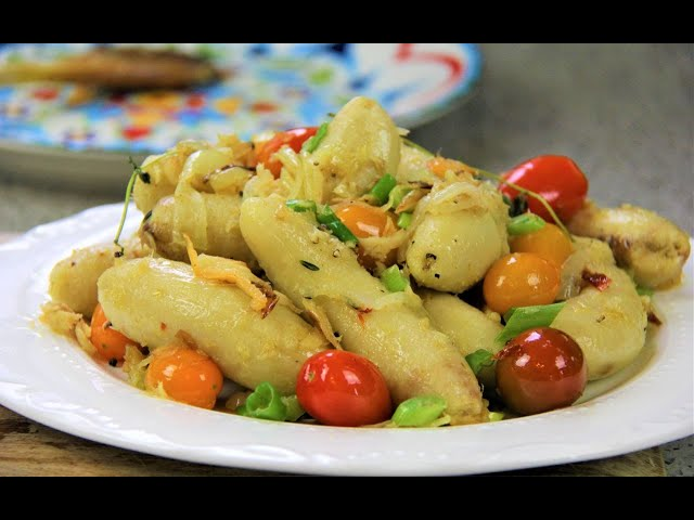 Boil n Fry Chikito (baby bananas) #TastyTuesdays | CaribbeanPot.com