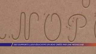Yvelines   Des supports ludo-éducatifs en bois créés par une Mesniloise