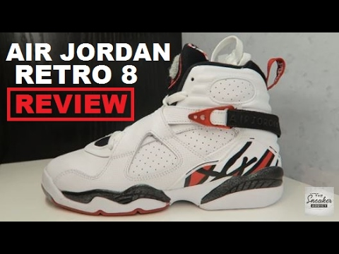 9f925619b9e9 Air Jordan 8 VIII Alternate Retro Sneaker Review Detailed Look - YouTube