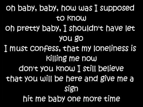 Baby one more time lyrics - Britney Spears
