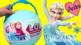 LOL Big Surprise DIY de Frozen Elsa y Anna | Muñecas y juguetes con Andre para niñas y niños
